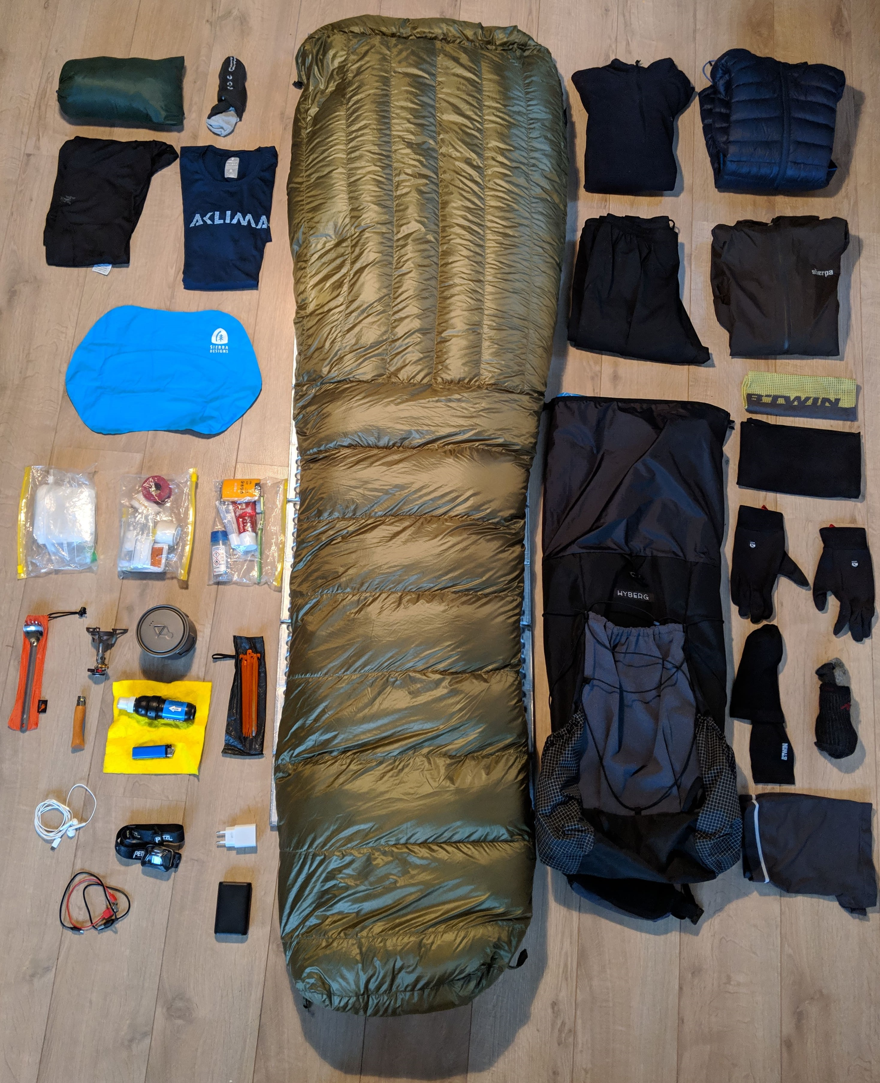 An overview of all lightweight hiking gear that I am taking on the Pacific Crest Trail