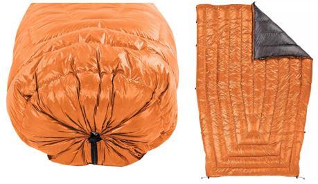 Close up van een optionele footbox en afbeelding van een opengevouwen quilt
