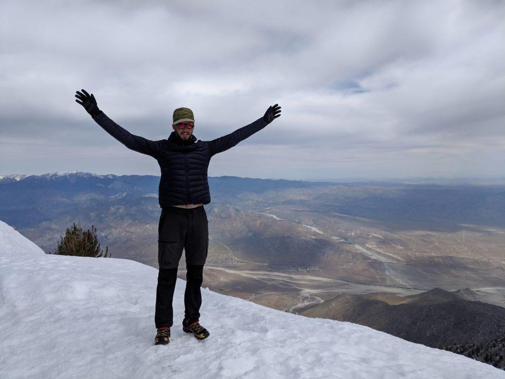 Op de top van Mount San Jacinto, CA sectie B